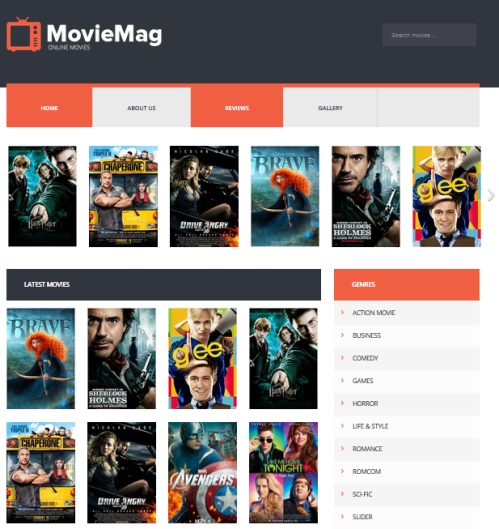 Template Blog Movie Mag – Responsive Design Seo Friendly