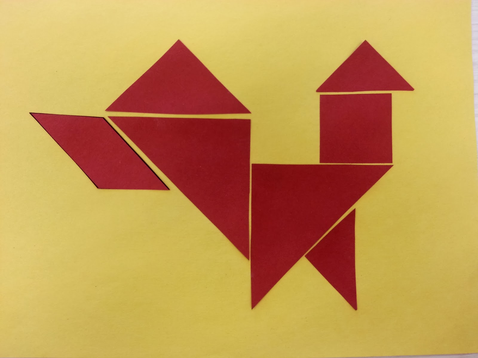 Lunar new year crafts - Year Of The Rooster Rooster Tangram Rooster Crafts For Kids Chicken Crafts For