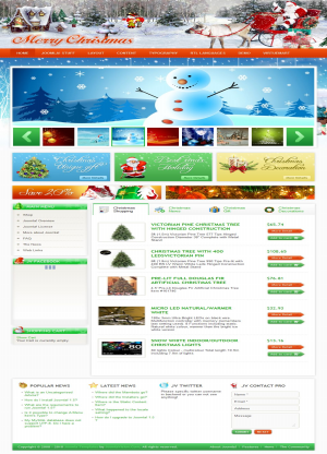 Share template JV Merry Christmas - Joomla 1.5