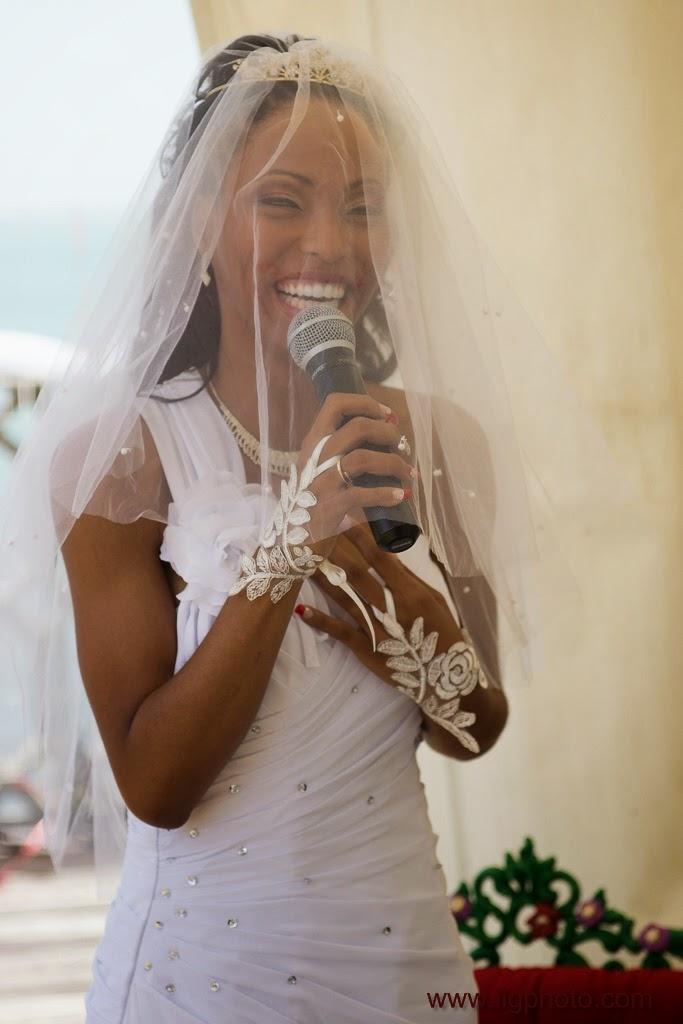 la mariée improvise un discours