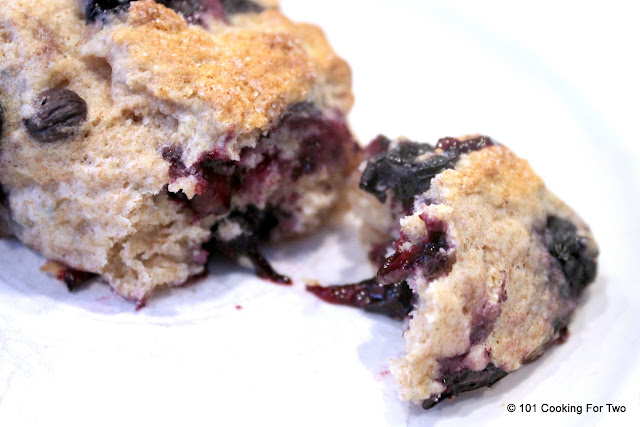 Low Fat Whole Wheat Blueberry Scones from 101 Cooking For Two