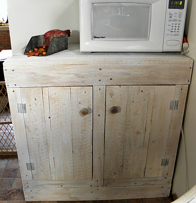 Remodelaholic how to make a rustic pallet cabinet - Cupboards made from pallets ...