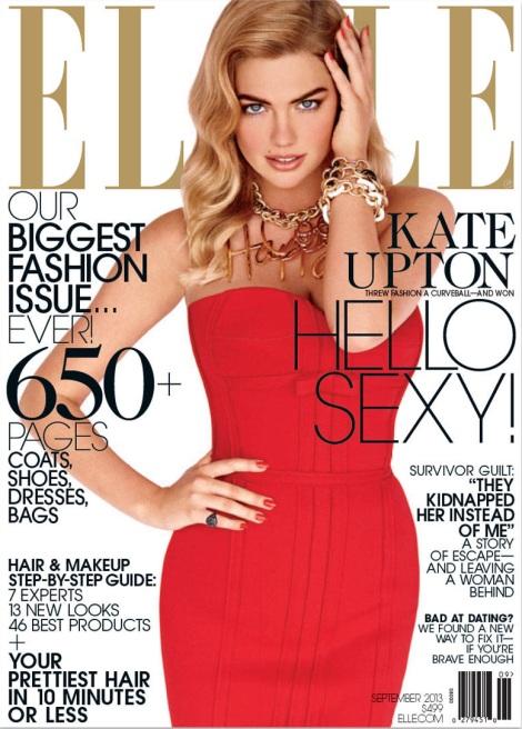 Kate Upton on Elle September Issue Cover