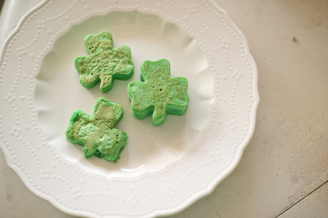 Saint Patrick's Day Shamrock Shaped Pancakes