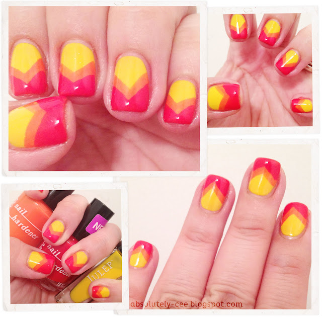 Sunset Chevron Nails