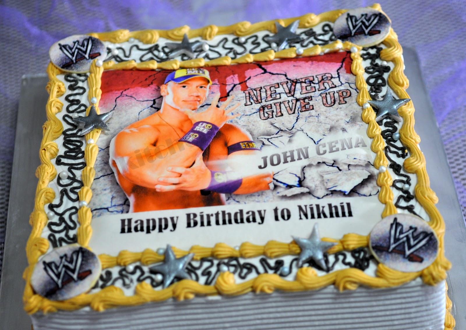 Izahs Kitchen John Cena Theme Cake