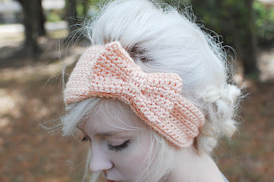 free crochet pattern bow headband