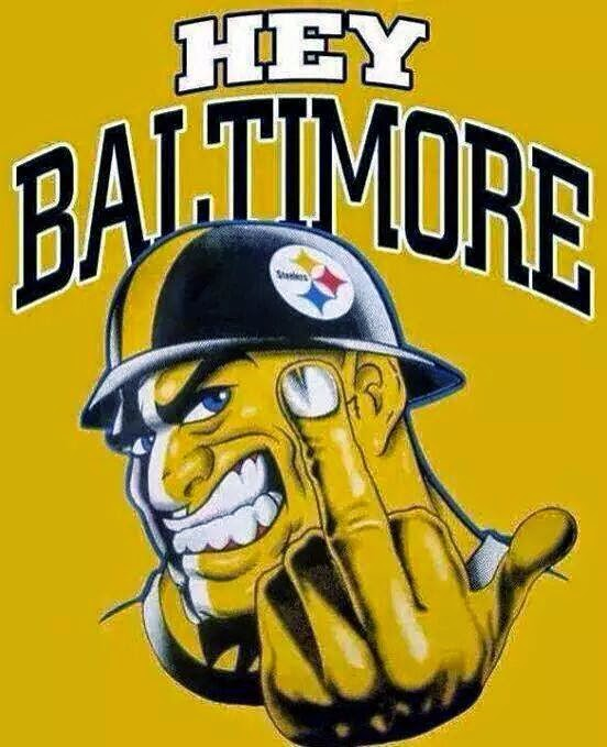 Hey baltimore (steelers doing Fuck You)