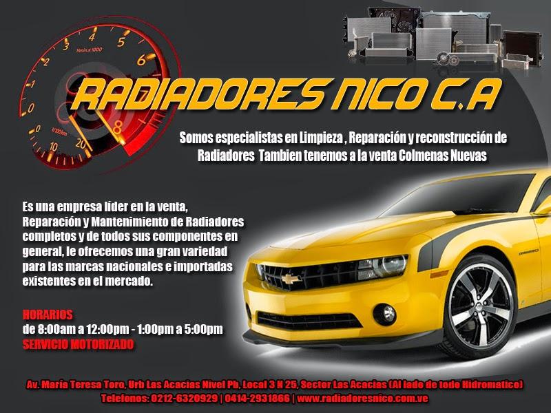 RADIADORES NICO C.A en Paginas Amarillas tu guia Comercial