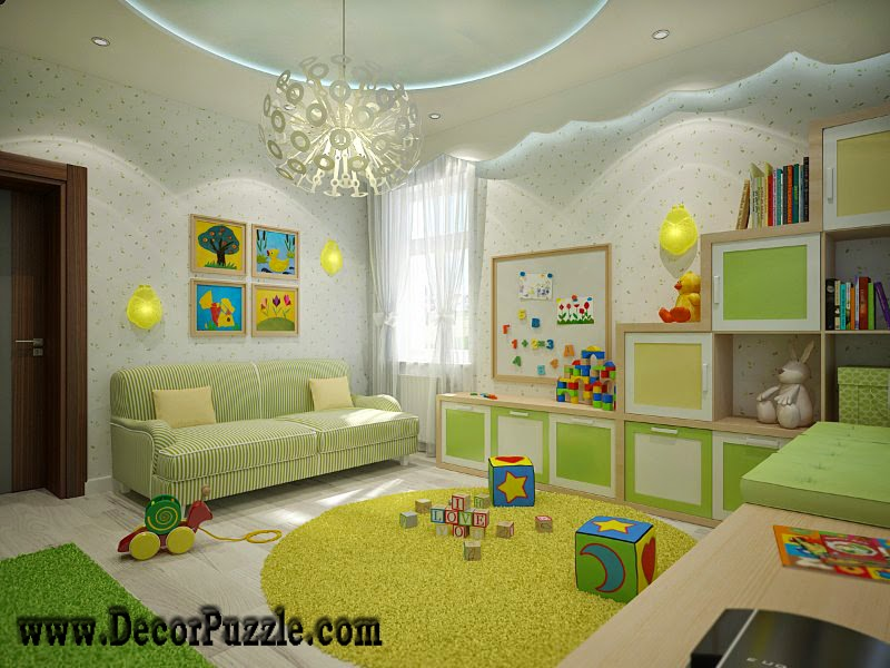 New plaster of paris ceiling designs pop designs 2015 decor for Ceiling light for kids room