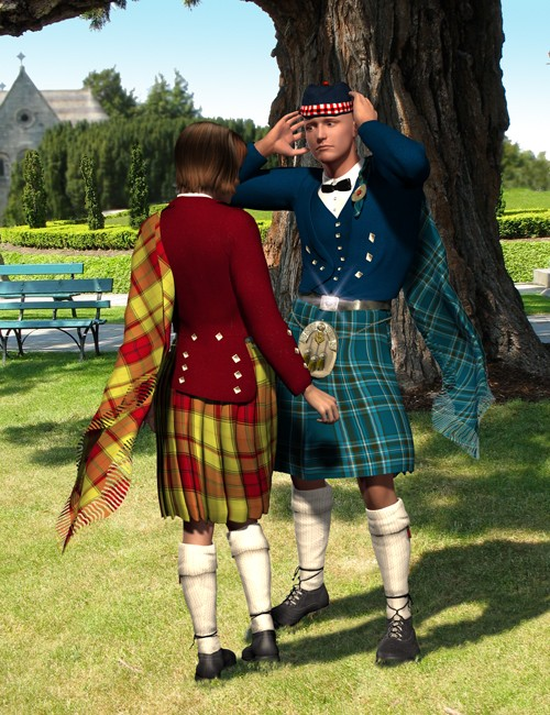 Scottish Kilts - Prince Charlie Outfit Textures