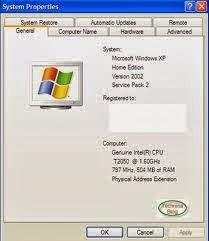 Tilan properties my computer/computer pada windows vista, windows 7