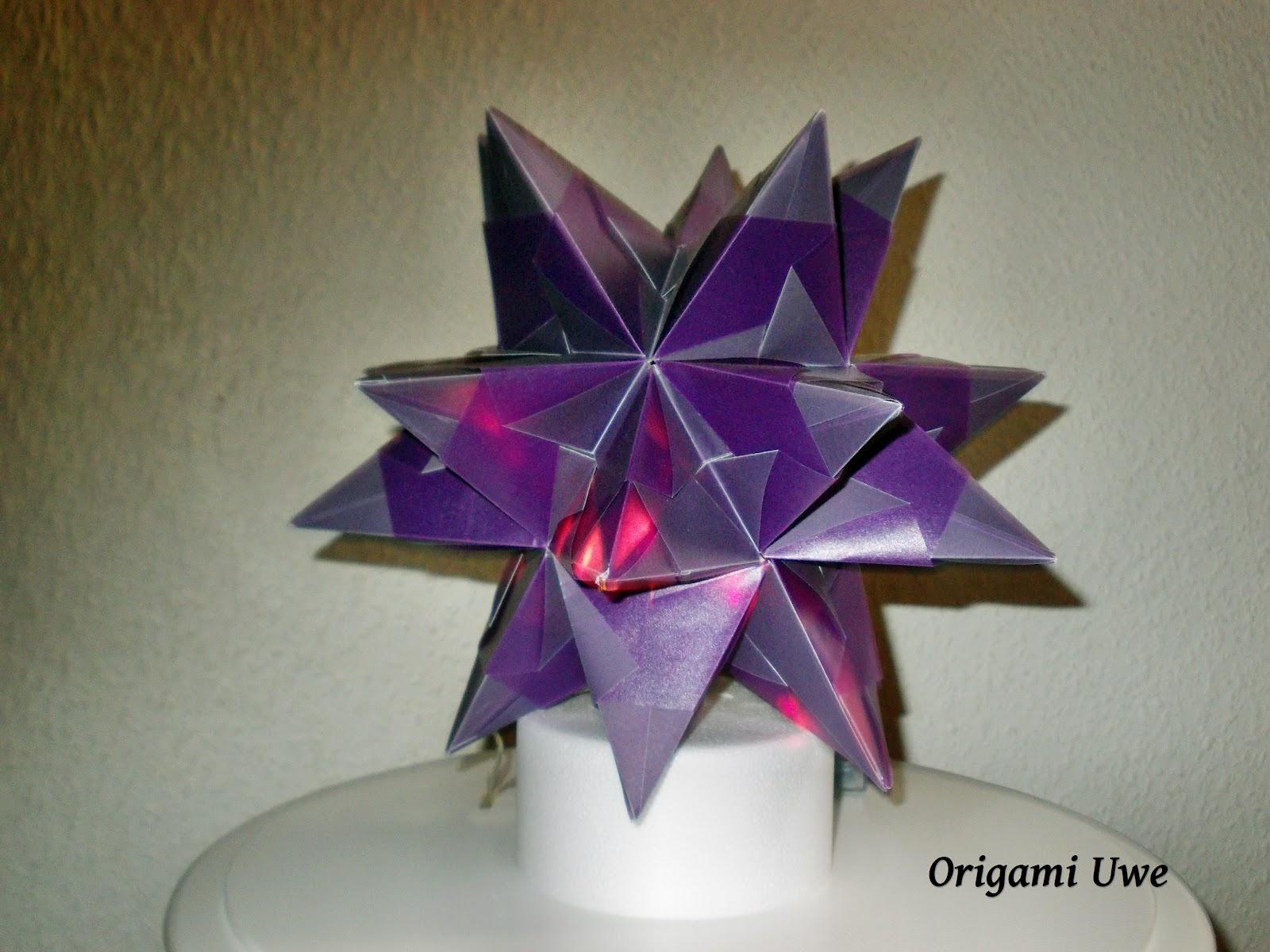 origami fleurogami und sterne bascetta stern by ur. Black Bedroom Furniture Sets. Home Design Ideas