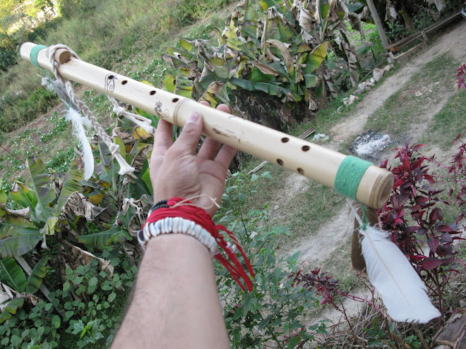 Flauta Lakota com Penas