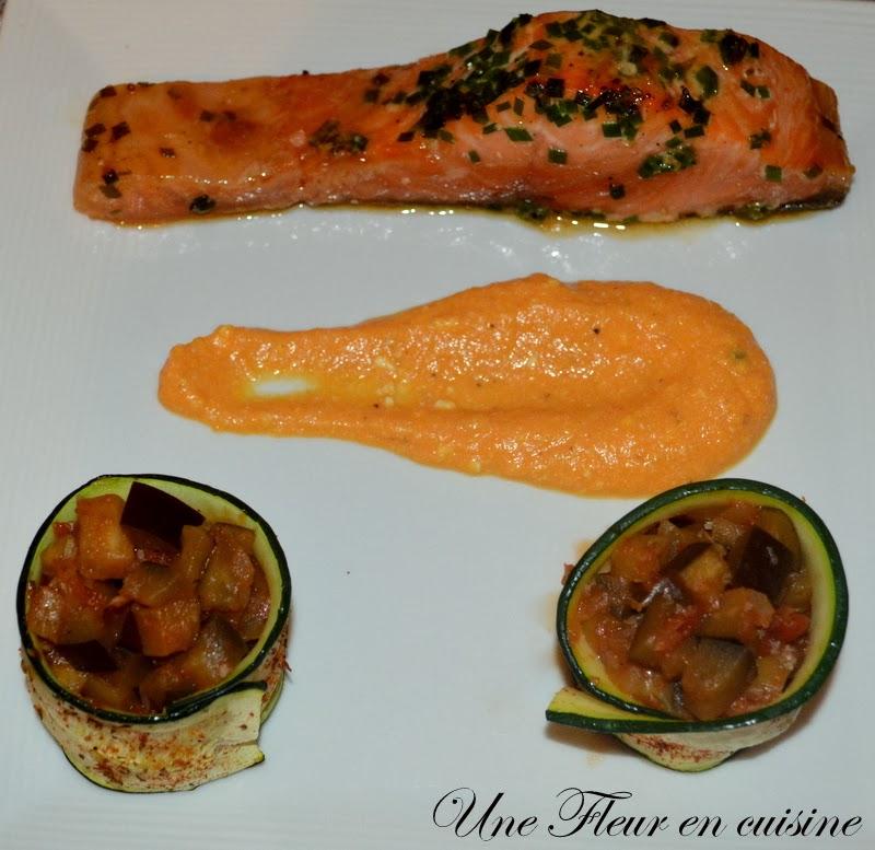 Une fleur en cuisine saumon marin au sirop d 39 rable - Une mousseline en cuisine ...