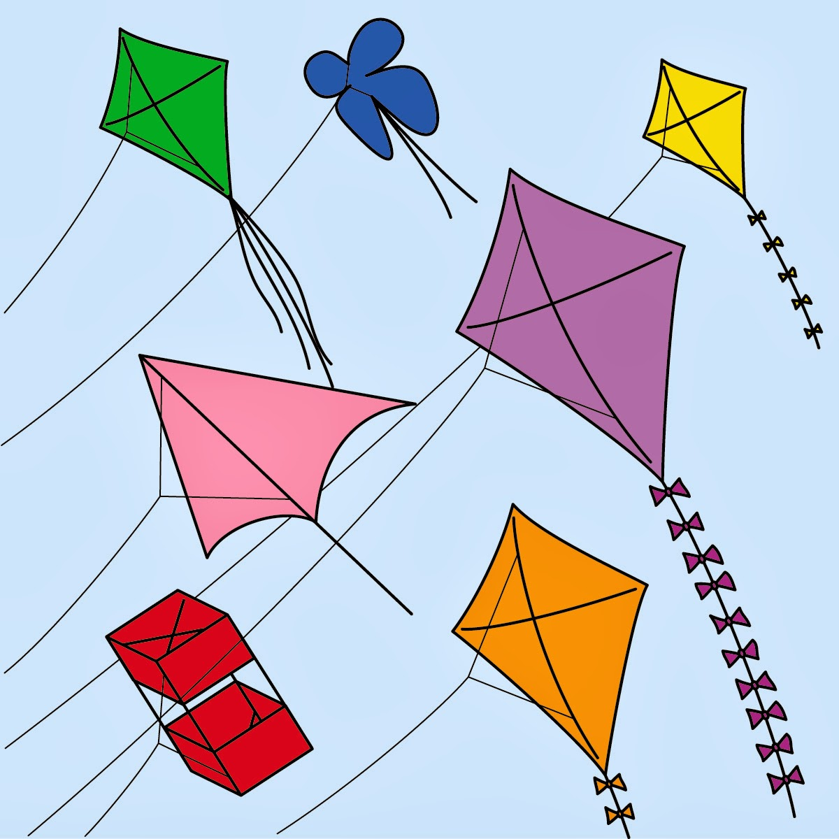 Makar Sankranti Smart lovey Kites Wallpaper