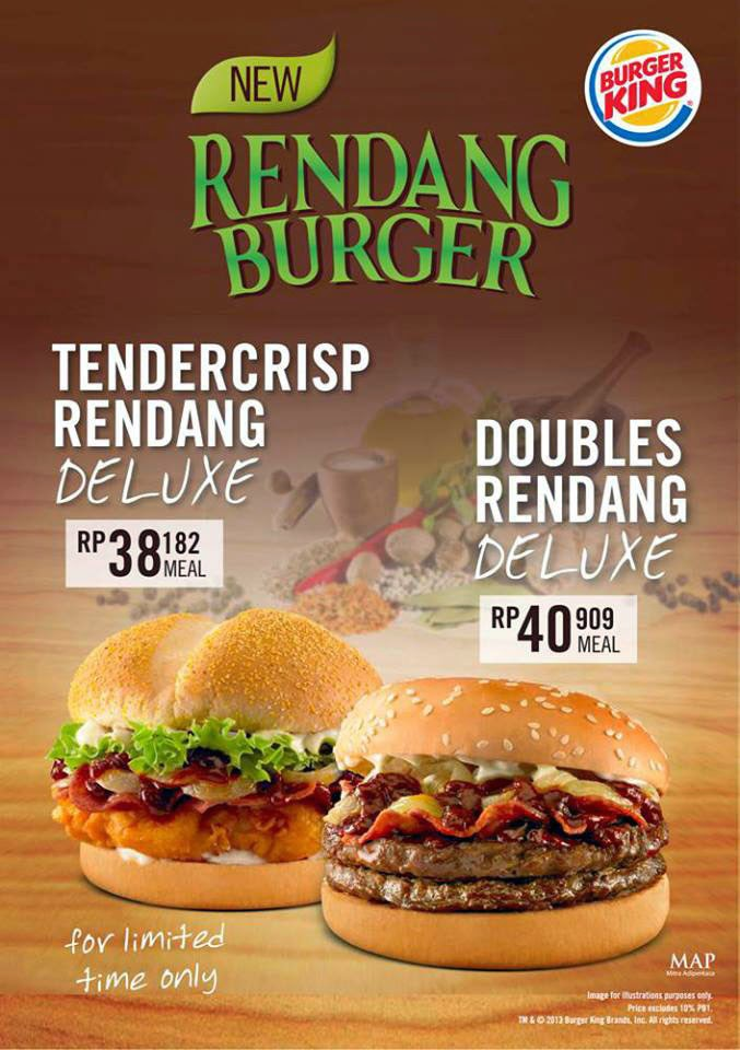 harga burger king indonesia 2014, harga burger king indonesia menu