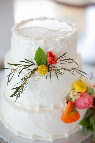 украшение тортов цветами
