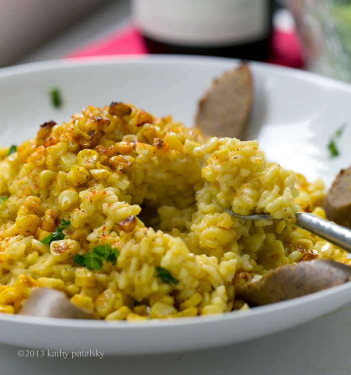 Sweet Roasted Corn Risotto. Simple Ingredient Summer Entree.