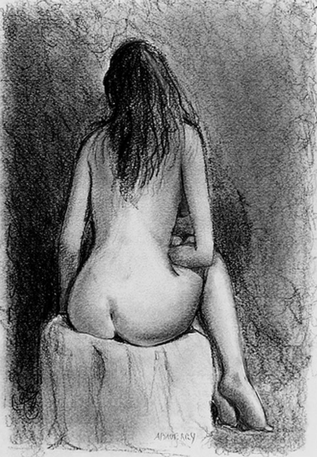 Fotos De Dibujos Dedesnudos Femeninos En Carboncillo