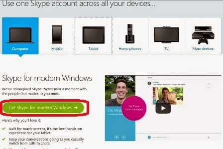 how to download and use skype