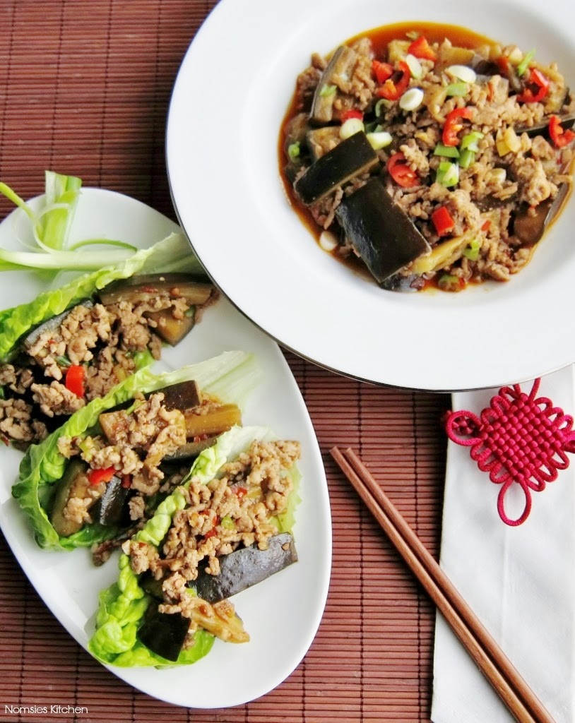 Spicy Aubergine & Minced Pork from Nomsies Kitchen