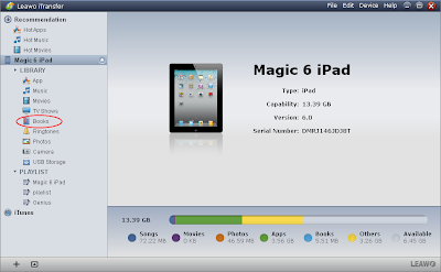 tranfer ebooks to iPad  with Leawo iTransfer