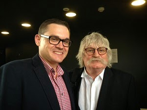 Paul Mealor and Karl Jenkins - photo Tŷ Cerdd