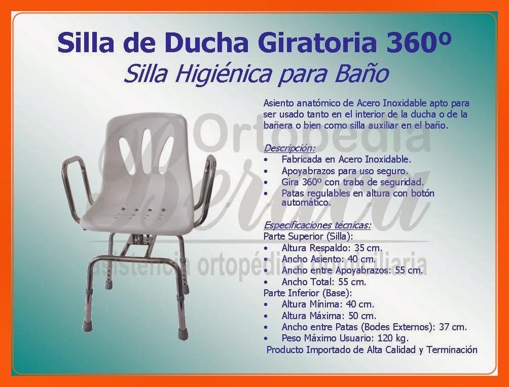Ayuda para el ba o ortopedia beraca 011 4342 8557 for Sillas para ducha