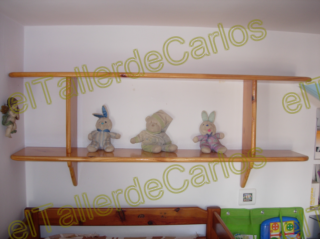 Eltallerdecarlos repisa de pino mueble de madera for Repisas espacios pequenos