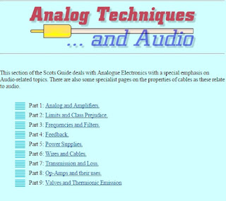 Analog Techniques and audio