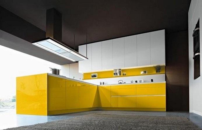 Furniture Interior Design: The Orange Snaidero kitchen lacquer is ...