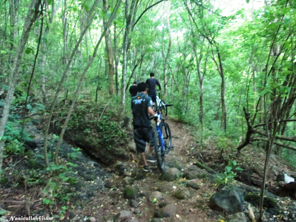 Menyusuri jalan menuju lokasi air terjun Tuwondo