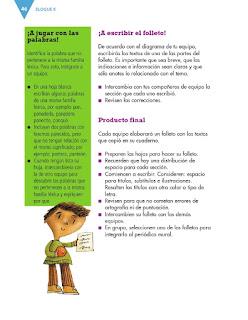 Apoyo Primaria Español 3er grado Bloque 2 lección 1 Práctica social del lenguaje 4, Elaborar un texto monográfico sobre pueblos originarios de México