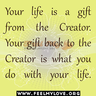 Your life is a gift from the Creator