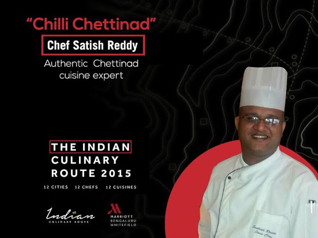 Indian Culinary Route Whitefield Marriott Bangalore, Chef Satish Reddy