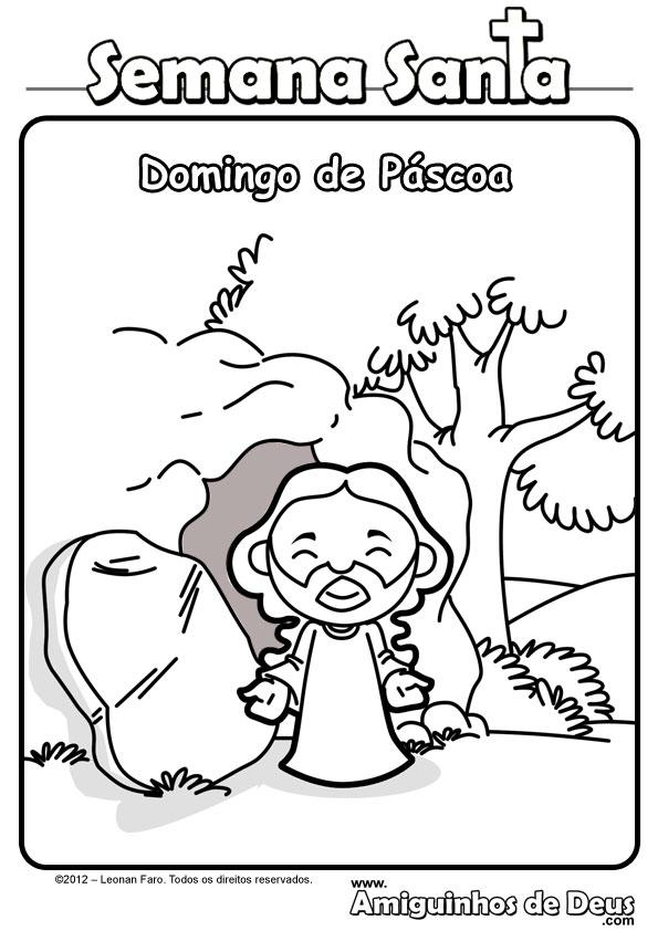 jesus ressuscitado desenho para colorir garotada missionária