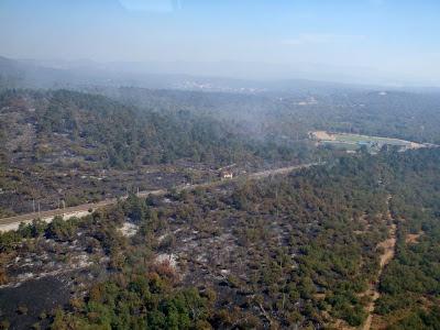 incendio sul Monte Hermada