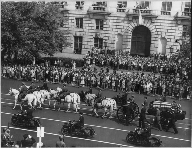 President Franklin D Roosevelt Funeral Procession.