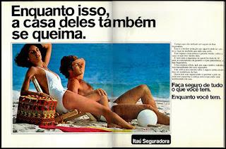 propaganda Itaú Seguradora - 1978; Banco Itaú; os anos 70; propaganda na década de 70; Brazil in the 70s, história anos 70; Oswaldo Hernandez;