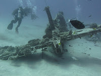 Corsair wreck dive, oahu diving