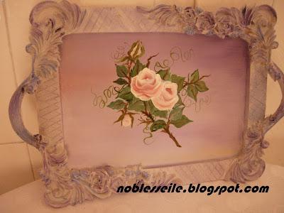 porselen boyama tepsi