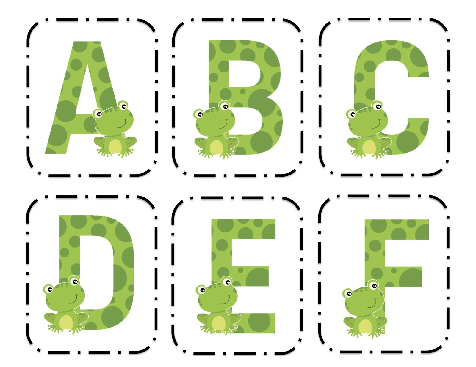frog alphabet cards With frog alphabet letters