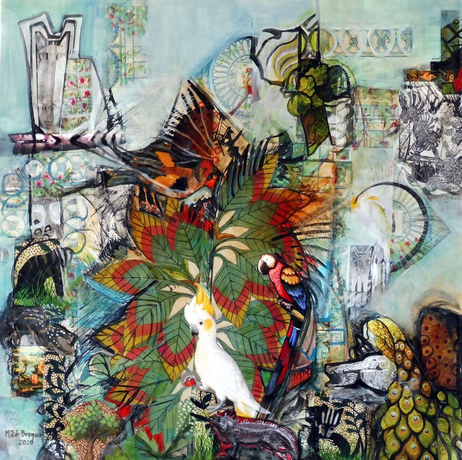 Le jardin insolite - 50 x 50 cm - 2020