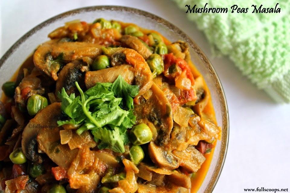 Mushroom Peas Masala