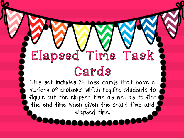Teaching in Paradise: Differentiated Elapsed Time Task Cards!