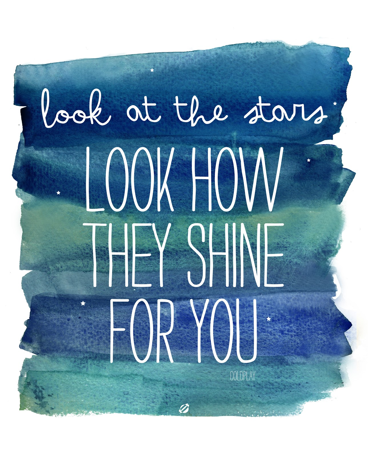 LostBumblebee ©2014 See how they Shine for You- Coldplay- Free Printable Personal use only