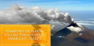 ALERTA AMARILLA FASE 3, EN VOLCAN POPOCATEPELT, 15 DE MAYO 2013