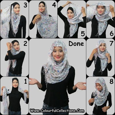 Tutorial Hijab Remaja Sederhana