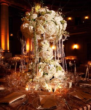 Consider the dimension your Tall floral centerpieces and how big they should